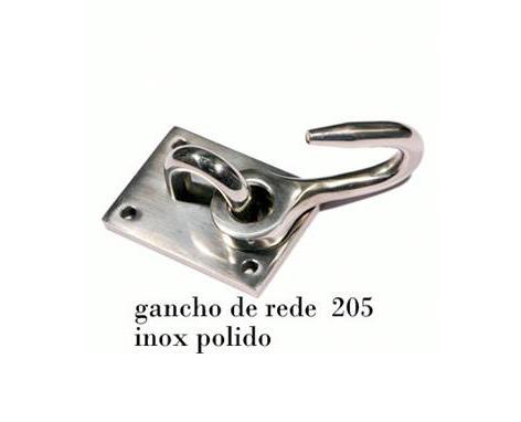 GANCHO DE REDE AÇO INOX 614