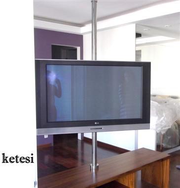 SUPORTE DE TETO PARA TV EM AÇO INOX